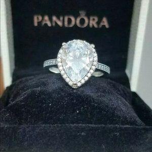 Pandora promise ring. Serling silver size 8